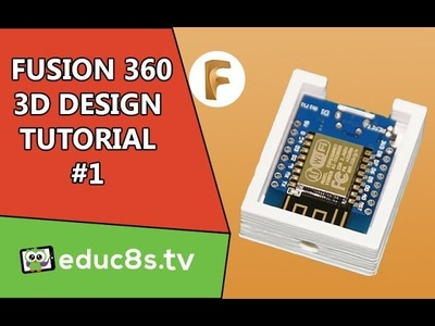 Designing a Wemos D1 mini ESP8266 Enclosure with Fusion 360. Easy tutorial.
