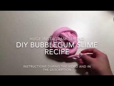 DIY Bubblegum Slime Recipe (Huge Instagram Trend!!)