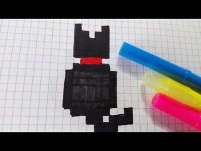Draw Handmade Pixel Art- Como dibujar un GATITO