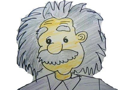 Easy Drawing for Kids - Albert Einstein Part 3