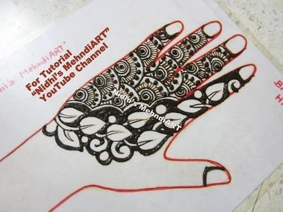 Easy Leaf Arabic Henna Mehndi Design for Back Hand Tutorial
