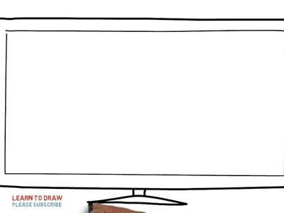 Easy Step For Kids How To Draw a TV