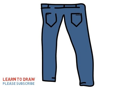 Easy Step For Kids How To Draw a Jeans