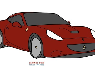 Easy Step For Kids How To Draw a Sport Car