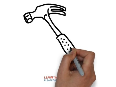 Easy Step For Kids How To Draw a Hammer