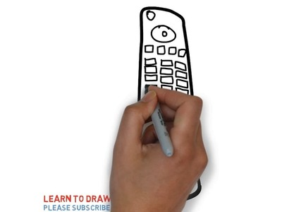 Easy Step For Kids How To Draw a Remote Control