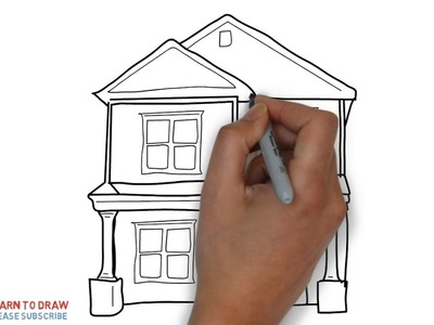 Easy Step For Kids How To Draw The Terraced Houses