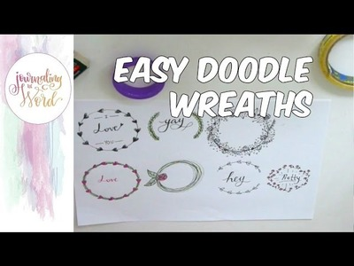 Easy Wreaths for Bible Journaling