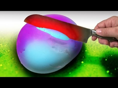 EXPERIMENT 1000 Degree Knife vs Slime Stress Ball with Toothpaste