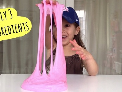 FLUFFY SLIME | Only 3 ingredients | How to make your own fluffy slime at home DIY