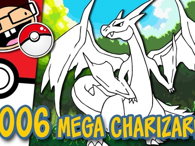 How to Draw #006 MEGA CHARIZARD Y | Narrated Easy Step-by-Step Tutorial | Pokemon Drawing Project