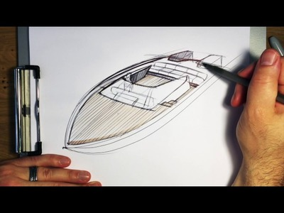 How to draw a boat simple and easy