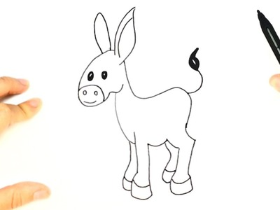 How to draw a Donkey for Kids | Donkey Easy Draw Tutorial