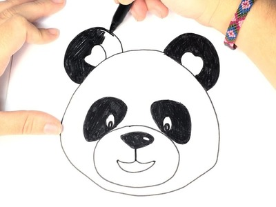 How to draw a Panda for Kids | Easy and Step by Step