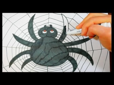 How To Draw A Spider | EASY Step By Step Demonstration For Kids