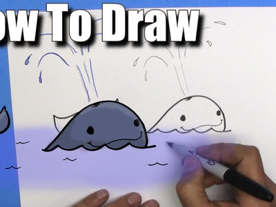 How To Draw a Whale - EASY - Step By Step