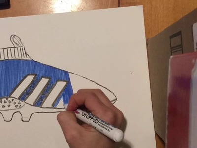How to draw adidas ace easy