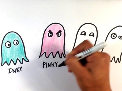 How to Draw Pacman Ghosts - Easy Picture to Draw
