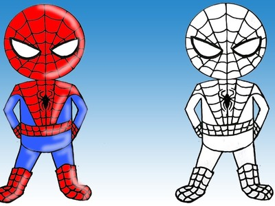 How to Draw Spiderman Cute Step by Step Easy Fun to Draw For Kids