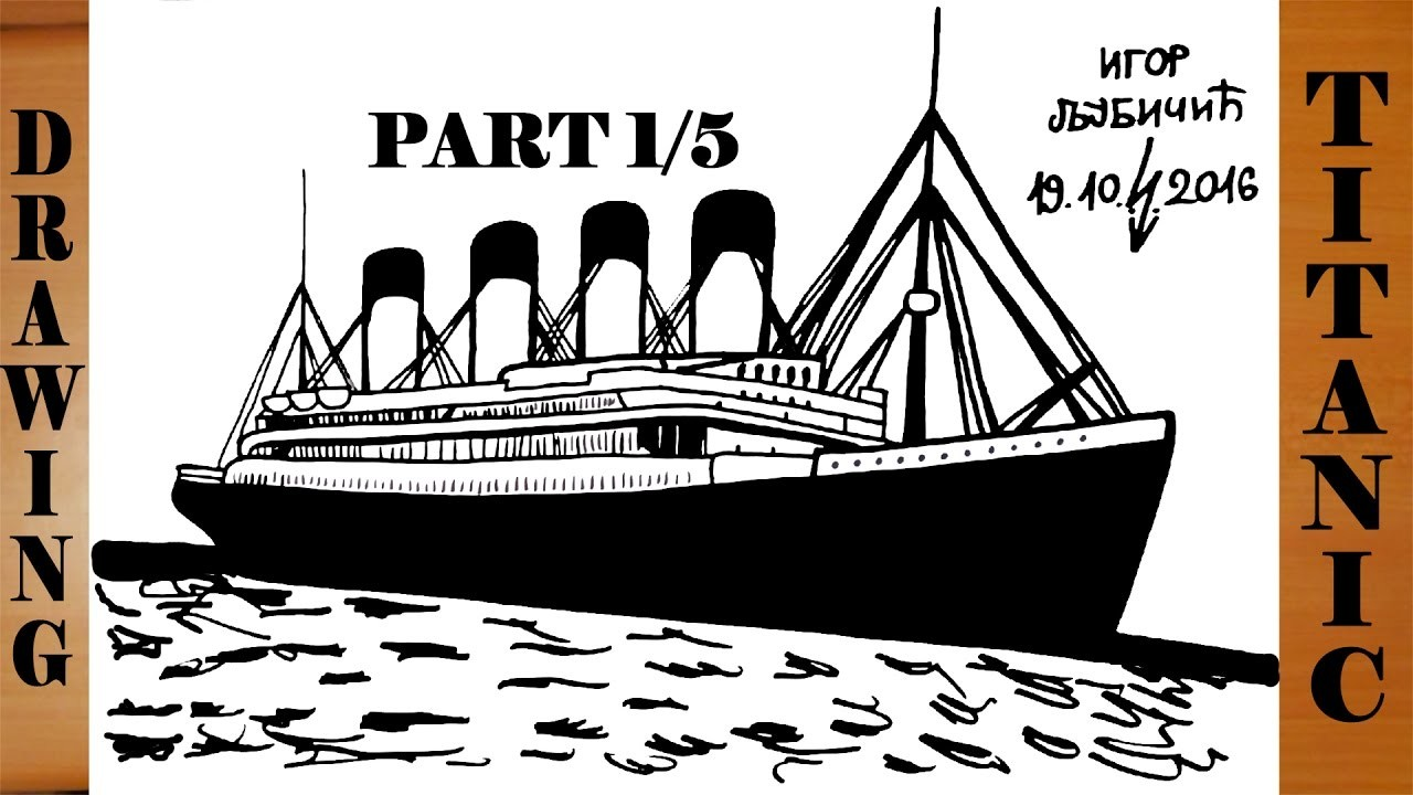 How To Draw Titanic Ship Step By Step Easy For Kids In Pencil And