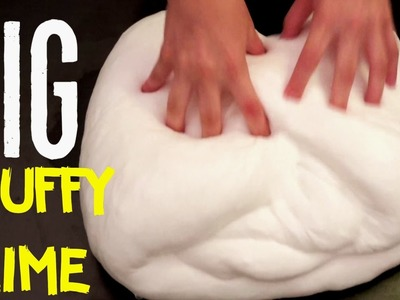 How to make Non-Sticky FLUFFY SLIME NO BORAX, Liquid Starch, Detergent, toothpaste DIY