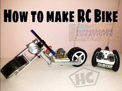 How to make rc motorcycle at home easy and fast