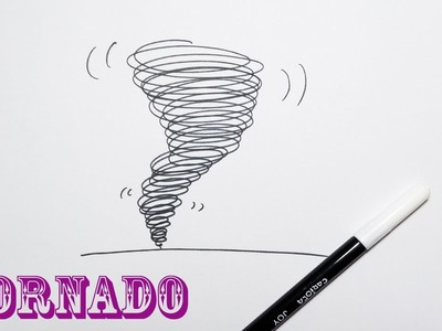 HowTo Draw a Tornado - VERY EASY - Drawing For Kids!