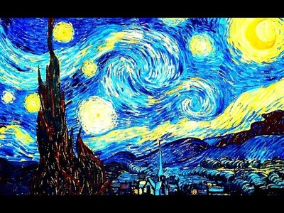 Learn to paint like van Gogh Easy painting technique Landscape oil painting tutorial Acrylic paint