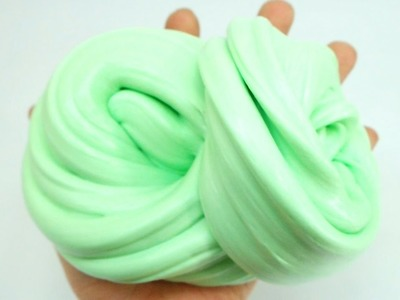 Make Mint Colors Fluffy Slime! Easy Learn DIY