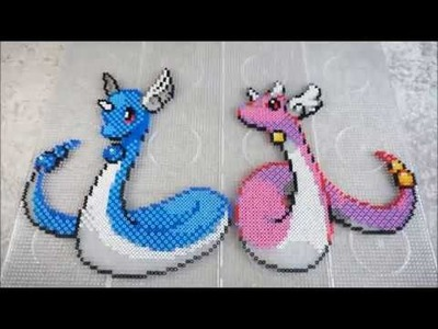 Pokémon DRAGONAIR & SHINY DRAGONAIR - Hama Beads. Perler Beads