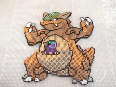 Pokémon KANGASKHAN - Hama Beads. Perler Beads