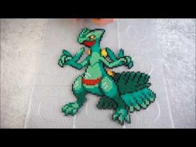 Pokémon SCEPTILE - Hama Beads. Perler Beads