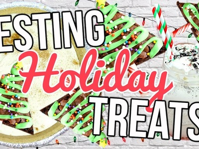 Testing Holiday Treats! Easy Holiday Desserts!