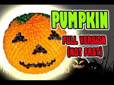 3D MODULAR ORIGAMI #123 PUMPKIN. Halloween. Jack o'lantern  FULL VERSION (NOT FAST)