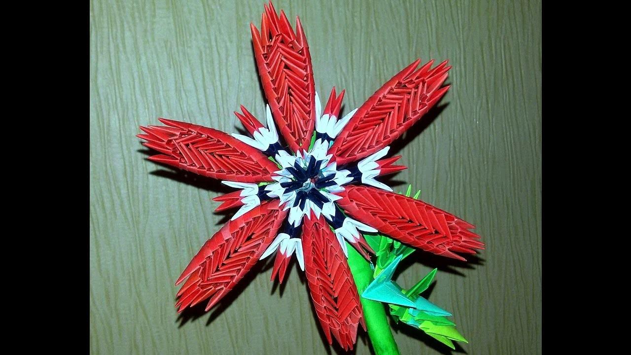 Origami 3d Origami Flower For Flexile Vase Tutorial 3d Origami