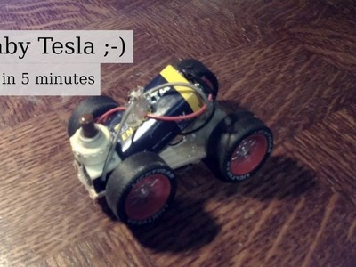 Baby Tesla Electric Car [fast DIY project]