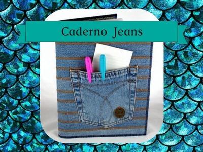 DIY: Caderno com capa jeans
