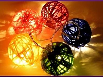 DIY Party | Silvester Dekoration | Lichterkette aus Wolle | New year decoration | wool fairy lights