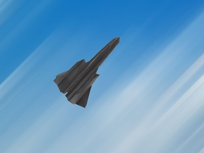 Flyable origami SR-71 Blackbird tutorial: by Ken Hmoob