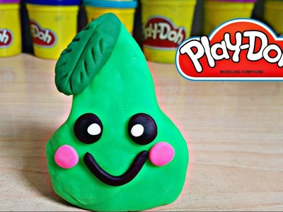 How to make a Kawaii Pear With Play Doh | Como hacer una Pera Kawaii con plastilina