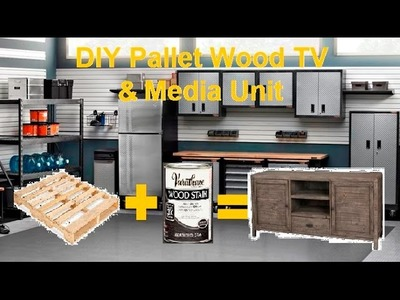How To Make A Media Console From Pallet Wood DIY