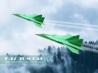 How to make a Paper Airplane that Flies - Origami Planes - F-14 Tomcat
