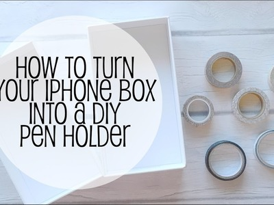How to turn your iPhone box into a DIY washi tape pen holder | www.sunshinestickerco.com