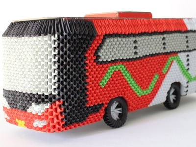 HowTo: 3D Origami Bus Om Telolet Om - Part 3