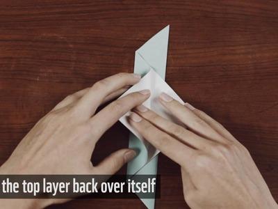 Instructions: make an origami bird