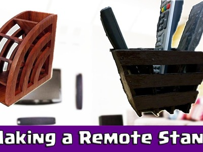 Making a Remote Stand for TV or Music System - DIY