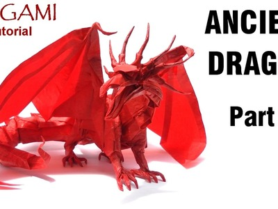 Origami Ancient Dragon Tutorial (Satoshi Kamiya) - Part 1折り紙 ドラゴン оригами учебник Древний дракон