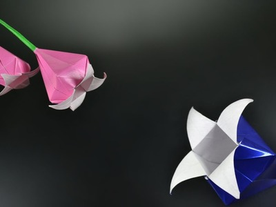 Origami: Harebell Flower - Instructions in English (BR)