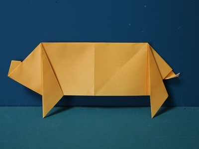 "Origami ""Pig"" 折り紙 「ブタ」"