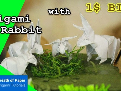 Origami Rabbit with 1$ bill